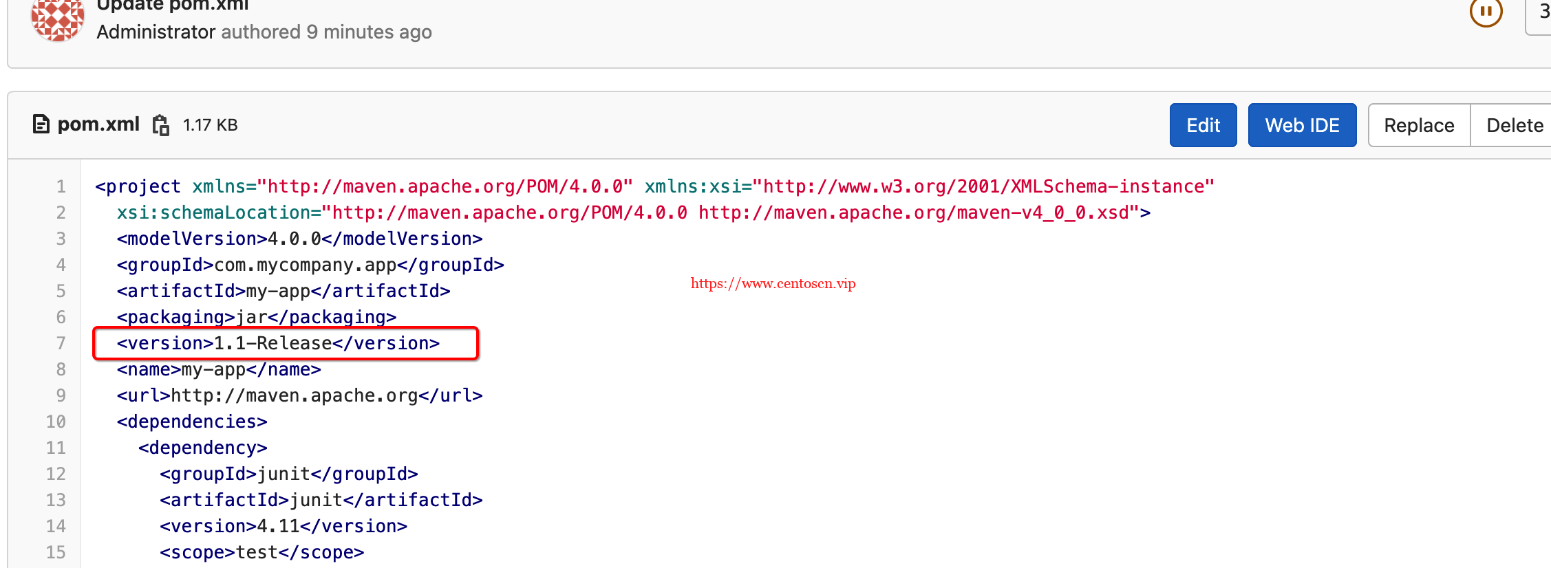 400 Repository version policy: RELEASE does not allow metadata in path